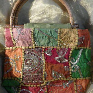 hand made Indian bag green