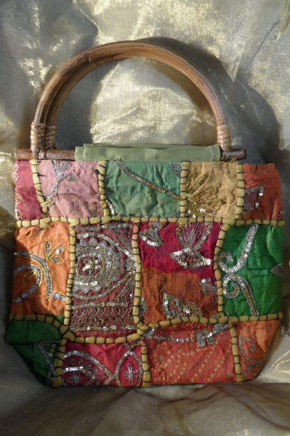 hand made Indian bag green