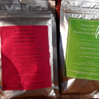 soft red hair colour henna & cassia organic