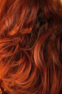 natural auburn hair colour shade on hair