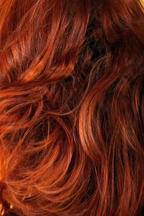 natural auburn hair colour shade on hair