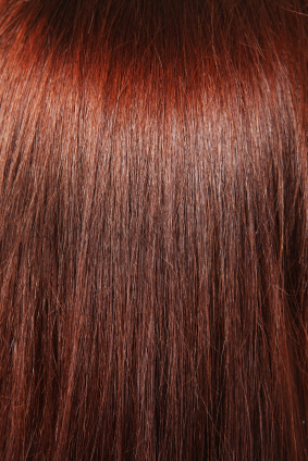 red brown hair background