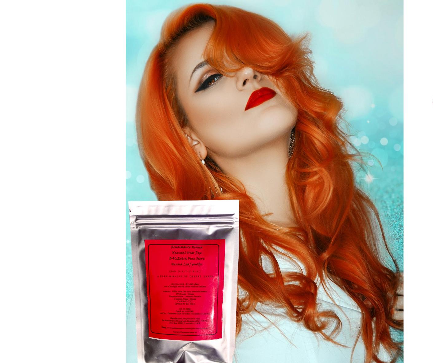 Baq Henna Powder Chemical Free Natural Hair Dye