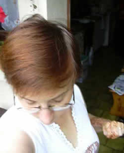 My natural hair colour - before I used henna