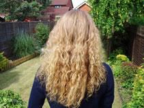 Long Blonde Hair Before Henna Dye