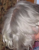 Grey Hair before Renaissance Henna, Picture of David's grey hair