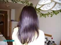 Maja's (Renaissance Henna indigo) indigo hair result