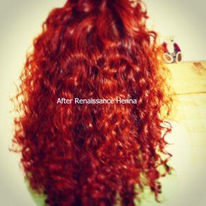 Blonde Hair after Renaissance Henna