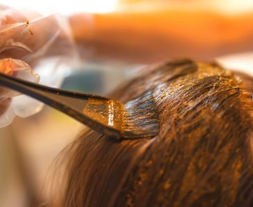 Applying Natural Henna to Hair; paraben free hair dye