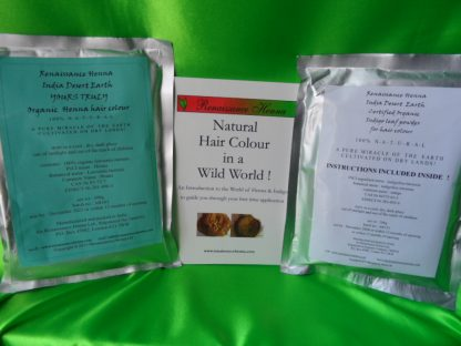 Organic herbal hair colour contents long hair kit , Renaissance Henna, www.renaissancehenna.com