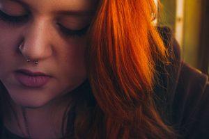 Auburn Red Hair Colour, Moroccan Henna,woman's face with vibrant red auburn hair colour