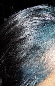 Blue Hairline Indigo Over Grey
