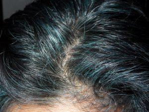 Indigo Blue Hair Roots