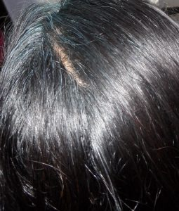 Blue Hair on Black Hair Colour with Natural Indigo