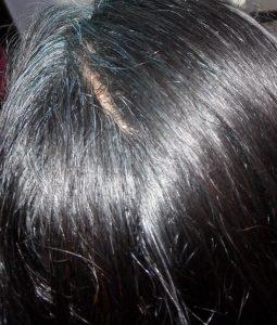 Blue Hair on Black Hair Colour with Natural Indigo