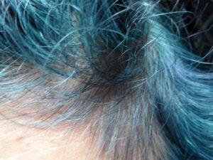 Blue Hair Dye Indigo in Grey Hair