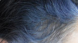 Indigo Purple Hair Colour fade in grey hair