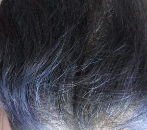 Fading Indigo Purple Hair